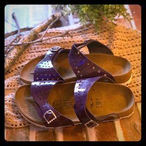Purple Birkenstock Birkies size 38